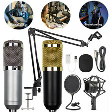 BM800 Condenser Microphone Kit Studio Suspension Boom Scissor Arm Stand Sound