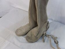 Route 66 Women's Isabella Sweater Boot beige knit with buckle Size 6 100192