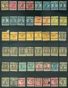 48 Piece US Precancel Collection TEN95