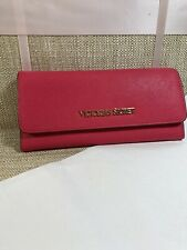 *FREE SHIPPING* Victorias Secret Jet Set Travel Wallet Ultra Pink And Leopard