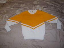 Cheerleading Sweater Yellow over White ( Yellow / White ) - Girls Size 12