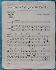 Just Like A Melody Out Of The Sky by Walter Donaldson pub.1928