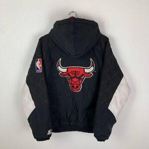 CHICAGO BULLS BASKETBALL JACKET VINTAGE 90s MEN'S NBA STARTER SIZE M