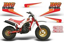 "Yamaha '86 BW200 Graphic Kit AMR Racing ""Big Wheel"" Replica Decals MX Parts 1986"
