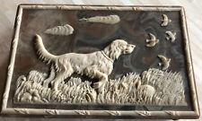 New ListingDante Vintage Walnut Incolay Stone Jewelry Trinket Box Hunting Dog