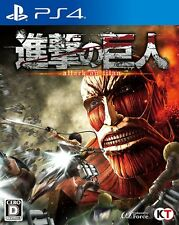 Used PS4 Attack on Titan Shingeki no Kyojin Japan Import Official F/S