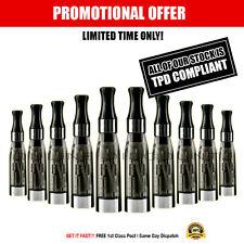 10 x New Black CE4 1.6ml Atomizer E Cigarette eGO EVOD Spinner 2 Refill Tanks UK