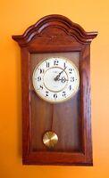 Howard Miller 613-235 Dark Oak Wall Clock, Bellflower Style, NO Chime