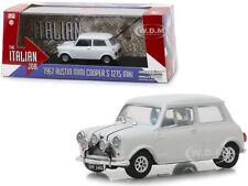 """1967 AUSTIN MINI COOPER S 1275 MKI WHITE """"THE ITALIAN JOB"""" 1/43 GREENLIGHT 86551"""