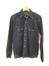 (Moving SALE OBO)(LVC) Sawtooth Western Jean Shirt Size Small