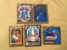 5 Wooden Christmas NATIVITY Ornaments/Jesus GiftTags/HangTags HANDCRAFTED SET@1