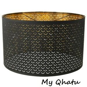 """Ikea NYMO Lamp Perforated Shade Black / Brass color 23"""" New"""