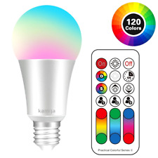 LED Light Bulb 10W Dimmable Color Changing 20 RGB Colors Soft White with Remote