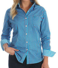 NWT WRANGLER Western George Strait For Her Button Down LGS7309 Blue Shirt 3XL