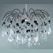 Pendant Light Shade Fitting Clear Black Chandelier Lighting Fountain Drop LMB006