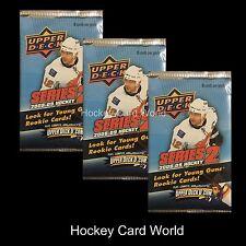(HCW) 2008-09 Upper Deck Series 2 Hockey Retail Pack x3 Lot - Bishop, Schneider