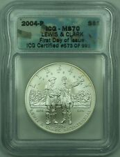 2004-P Lewis & Clark S$1 Silver Dollar ICG MS-70 First Day of Issue