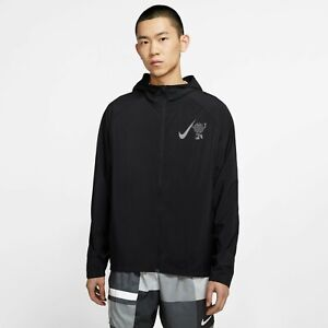 Nike Men's Essential Wild Run Reflective Running Jacket Black CK2619 Size 2XL