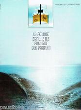 PUBLICITE ADVERTISING 115  1972  pafum femme Guy Laroche Fidji