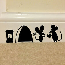 Mouse Hole Vinyl Mural Wall Art Sticker Decal Kids Nursery Room Home Decor