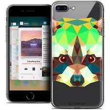 "Coque Crystal Gel Pour iPhone 8 Plus (5.5"") Extra Fine Souple Polygon Animals Ra"