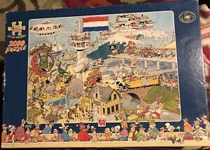 "Jumbo JAN VAN HAASTEREN ""By Air, Land, or Sea"" 2000 PIECE PUZZLE HARD TO FIND"
