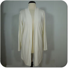 89TH & MADISON Women's Ivory Long Cardigan Sweater, Long Sleeves, size XL