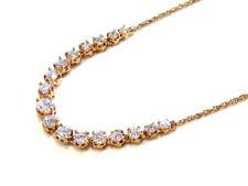 Bijou alliage doré collier avec rivière de cristal diamant necklace
