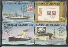 Marshall Islands #229a VF MNH BLOCK - 1989 45c PHILEXFRANCE '89