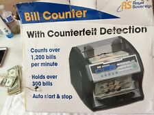 Royal Sovereign RBC-1003BK Bill Counter, UV, IR, Magnetic Counterfeit Detection