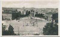 Primi 1900 Roma Vista di Piazza del Popolo vista dal Pincio carrozza FP B/N ANIM