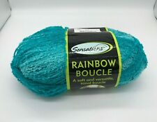 Sensations Rainbow Boucle Shimmer Yarn - Blue/Aqua - Color 3839