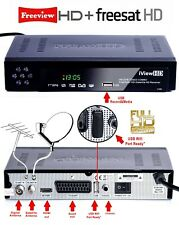 FULL HD Combo Freeview & Freesat Receiver Recorder TV Satellite SKY Set Top Box