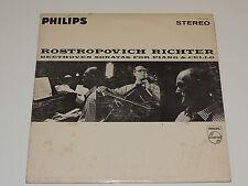 """BEETHOVEN FIVE SONATAS FOR PIANO AND VIOLONCELLO ROSTROPOVICH RICHTER Lp 12""""x2"""