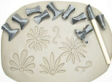 Pottery texturing ceramic clay tools: Rélyéf Flower puzzle set