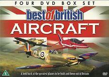 BEST OF BRITISH AIRCRAFT - 4 DVD GIFT BOX SET RED ARROWS SPITFIRE vulcan harrier