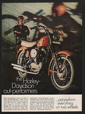 1969 HARLEY-DAVIDSON SPORTSTER Motorcycle VINTAGE AD