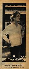 PUBLICITE ADVERTISING 034 1960 CHAMP ELYSEE pull cardigan collection hiver