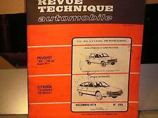 REVUE TECHNIQUE CITROEN CX ESSENCE 1979 + PEUGEOT 104 6CV 1977