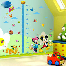 Mickey Mouse Minnie Height Measurement Chart Wall Sticker Decals for Child Room