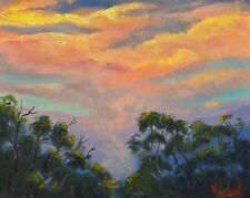 Original oil painting - Sunset Sky after the Storm