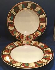 Pier 1 Yuletide Greetings Rimmed Soup Bowls Set of 2