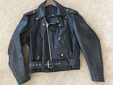 Steer Vintage Brand Leather Motorcycle  Jacket Size 42 USA, American Eagle