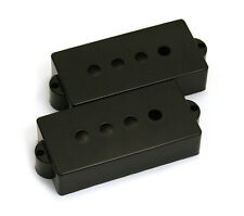 Genuine Fender USA/American Precision/P Bass Black Pickup Covers 099-2037-000