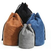 Round Padded Camera Lens Bag Shockproof Protective Pouch Case for DSLR Camera