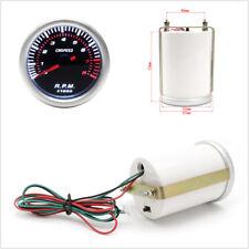 12V 2'' 52MM Gray Car Motor Digital LED Tachometer Tacho Gauge Meter Pointer RPM