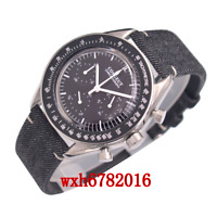 40mm corgeut black dial Multifunction Quartz Mens Watch Full Chronograph