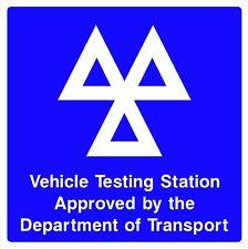 MOT Testing Station Safety Rigid Sign 400mm x 400mm C8QG
