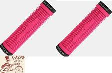 LIZARD SKINS CHARGER LOCK-ON PINK BMX--MTB BICYCLE GRIPS