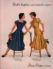 retro vintage 1950 's ad doris dodson DRESS DANCE LITTLE LADY  LITTLE THEATRE
